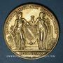 Münzen Bas-Rhin. Comité régional agricole. 1877. Médaille doré. 45,65 mm