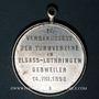 Münzen Guebwiller. 4e tournoi de gymnastique des associations d'Alsace et de Lorraine 1898. Médaille alu.