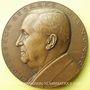 Münzen Hommage à Mignonac Georges, professeur de chimie (1969). Médaille en bronze. Gravée par R. Cochet