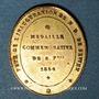 Münzen Sewen. Inauguration de Notre Dame de Sewen. 1864. Médaille bronze doré, ovale