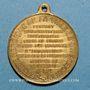 Münzen Strasbourg. Guerre de 1870 - Les Corps Francs. Médaille laiton. 28,2 mm, avec son œillet