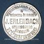 Münzen Strasbourg. J. L. Erlenbach (lingerie, confection). Médaille. Zinc nickelé, avec son oeillet
