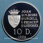 Münzen Andorre. Principauté. 10 diners 1994. (PTL 925/1000. 31,47 g)