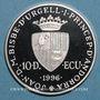 Münzen Andorre. Principauté. 10 diners 1996. Couronnement de Charlemagne. (PTL 925/1000. 31,47 g)