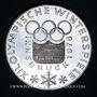 Münzen Autriche. République. 100 schilling(1974). Jeux olympiques d'hiver d'Innsbruck - Emblème olympique