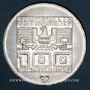 Münzen Autriche. République. 100 schilling (1975). Jeux olympiques d'hiver d'Innsbruck. Skieur - Ecusson