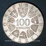 Münzen Autriche. République. 100 schilling 1976. 200e anniversaire du Théâtre