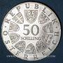 Münzen Autriche. République. 50 schilling 1970. Université d'Innsbruck