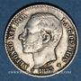 Münzen Espagne. Alphonse XII (1874-1885). 50 centimos 1885/86MS-M
