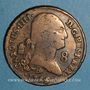 Münzen Espagne. Charles IV (1788-1808). 8 maravedis 1795. Ségovie