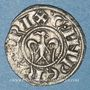 Münzen Italie. Sicile. Les Suèves. Henri VI (1194-97) et Constance. Denier