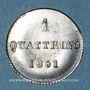 Münzen Italie. Toscane. Léopold II (1824-1848). 1 quattrino 1851. Florence