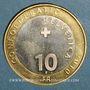 Münzen Suisse. Confédération. 10 francs 2010B. Marmotte des Alpes