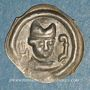 Münzen Suisse. Evêché de Bâle. Henri d'Isny (1275-1286). Runder Pfennig, vers 1275