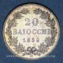 Münzen Vatican. Pie IX (1846-1878). 20 baiocchi 1859R, an XII. Rome