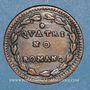 Münzen Vatican. Pie VI (1775-1799). Quattrino an XII (1786)