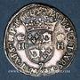 Münzen Charles IX (1560-74). Monnayage au nom de Henri II. Teston du Dauphiné 1561Z et rose. Grenoble