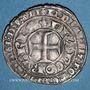 Münzen Charles V (1364-1380). Blanc au K. Variété avec un annelet en haut, à droite du 2e lis de la bordure