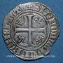 Münzen Charles VI (1380-1422). Blanc dit Guénar à l'O long, 1ère émission (1385)