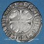 Münzen Charles VI (1380-1422). Blanc dit Guénar à l'O rond, 2e émission (1389). Romans (point 2e)
