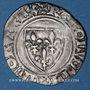 Münzen Charles VI (1380-1422). Blanc dit Guénar à l'O rond, 2e émission (1389). Sainte Menehould