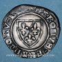 Münzen Charles VI (1380-1422). Blanc dit Guénar à l'O rond, 4e émission (1411). Dijon ou Châlon