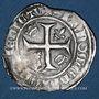 Münzen Charles VI (1380-1422). Blanc dit Guénar à l'O rond, 4e émission (1411). Tournai (annelet 16e)