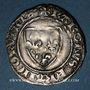 Münzen Charles VI (1380-1422). Blanc dit Guénar à l'O rond, 4e émission (1411). Tournai (point 16e)