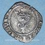Münzen Charles VI (1380-1422). Double tournois dit niquet frappé à Dijon (point 13e avers et revers)