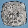 Münzen Charles VI (1380-1422). Gros dit florette 1ère émission (10.5.1417). Troyes (annelet 8e)