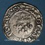 Münzen Charles VI (1380-1422). Gros dit florette, 3e émission (7 mars 1419). Paris (point 17e au revers)