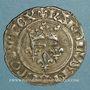 Münzen Charles VI (1380-1422). Gros dit florette, 3e émission (7 mars 1419). Paris, point 17e /revers