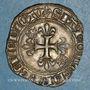Münzen Charles VI (1380-1422). Gros dit florette, 3e émission (7 mars 1419)