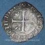 Münzen Charles VI (1380-1422). Monnayage du duc de Bourgogne (1417-23) Blanc dit Guénar à l'O rond. Mâcon
