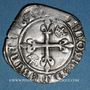Münzen Charles VI (1380-1422). Monnayage du duc de Bourgogne (1417-23). Florette. Dijon (point 1er av & rev