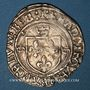 Münzen François I (1515-1547). Grand blanc à la couronne, 1er type var. Villeneuve-lès-Avignon. Inédit !