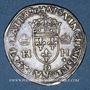 Münzen Henri II (1547-1559). 1/2 teston, 1er type, 1552D et point 12e. Lyon