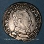 Münzen Henri II (1547-1559). Teston, 2e type, 1554M et point 5e. Toulouse