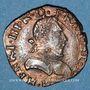 Münzen Henri III (1574-1589). Double tournois 158(6?)H. La Rochelle