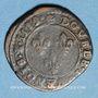Münzen Henri III (1574-1589). Double tournois 1589C. Saint-Lô