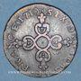 Münzen Louis XIV (1643-1715). 6 deniers dits dardenne 1710H. La Rochelle. R !