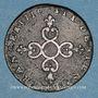 Münzen Louis XIV (1643-1715). 6 deniers dits dardenne 1710N. Montpellier