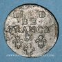 Münzen Louis XIV (1643-1715). Liard de France au buste âgé, 3e type, 1699&. Aix. Avec soleil
