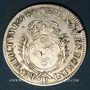 Münzen Louis XIV (1643-1715). Monnayage particulier de Strasbourg. 34 sols aux palmes 1694BB. Réformation