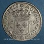 Münzen Louis XIV (1643-1715). Monnayage particulier de Strasbourg. 44 sols de Strasbourg 1709 BB