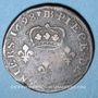 Münzen Louis XIV (1643-1715). Monnayage particulier de Strasbourg. Quatre deniers 1698 BB.