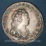 Münzen Louis XV (1715-1774). 1/10 écu vertugadin 1716&. Aix. Réformation !