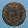 Münzen Louis XV (1715-1774). Liard à la vieille tête 1771BB. Strasbourg