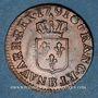 Münzen Louis XVI (1774-1793). Liard 1791B. Rouen. 2e semestre. Intéressante curiosité !