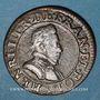 Münzen Monnayage de la Ligue au nom d'Henri III (1589-1596). Double tournois n. d. (1591, Paris)